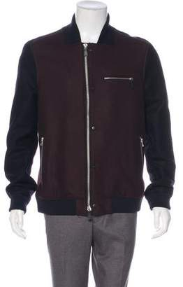 AllSaints Colorblock Bomber Jacket