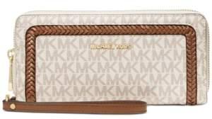 Michael Kors Michael Leather Logo Continental Wallet