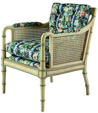 One Kings Lane Vintage Floral Cane Chair - Madcap Cottage