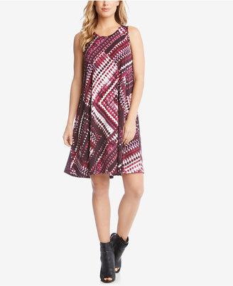 Karen Kane Printed Trapeze Dress $98 thestylecure.com