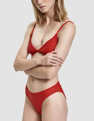 Nu Swim High Cut Swim Bottom in Poppy