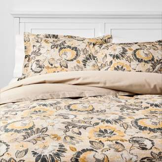 Threshold October Jacobean Duvet Cover Set Neutral