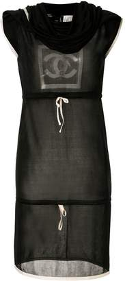 Chanel Pre-Owned Sports Line cowl neck drawstring dress
