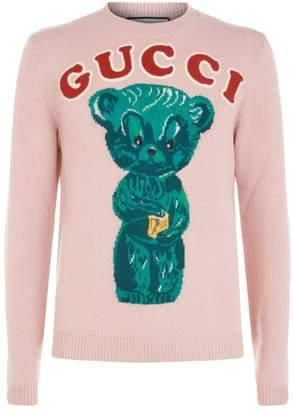 Gucci Logo Knit Bear Sweater
