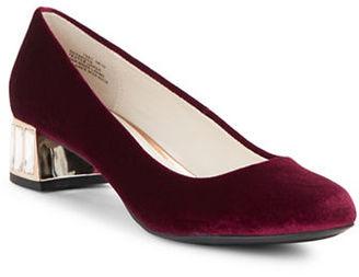 Anne Klein Haedyn Velvet Heels $90 thestylecure.com