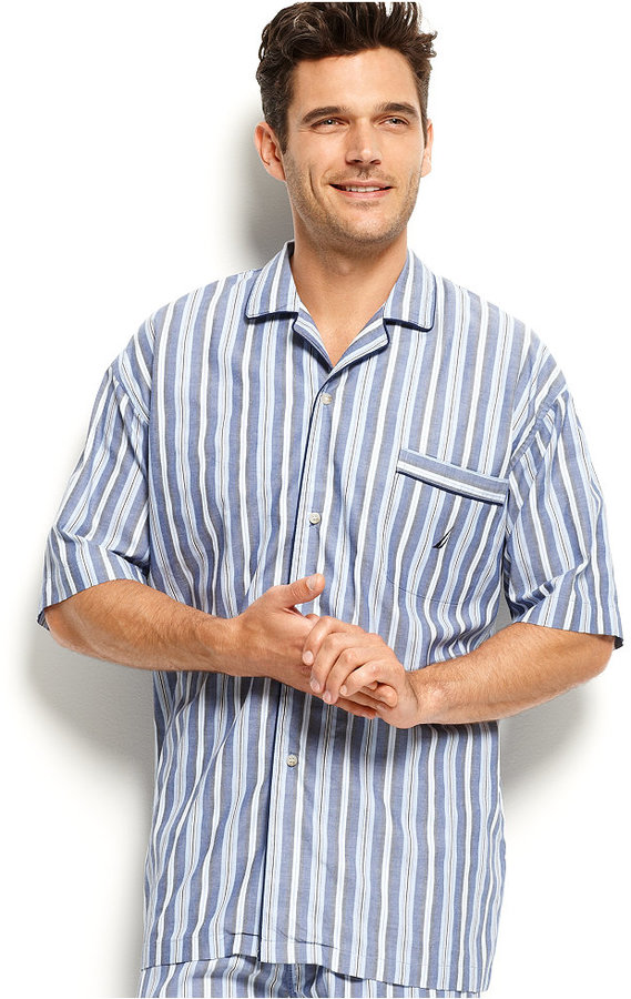 Nautica Men's Sleepwear, Anchor Pajama Shirt 2