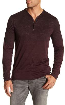 John Varvatos Burnout Knit Long Sleeve Tee