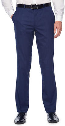 Jf J.Ferrar Bright Blue Plaid Stretch Slim Fit Suit Pants