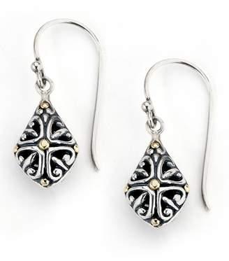 Samuel B Jewelry Sterling Silver & 18K Yellow Gold Filigree Geo Drop Earrings