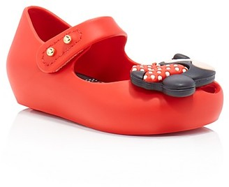 Mini Melissa Girls' Ultragirl Disney Twins Minnie Flats - Walker, Toddler $65 thestylecure.com