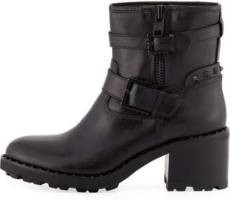 Ash Xenon Chunky-Heel Leather Boots