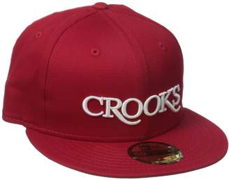 Crooks & Castles Men's Serif Crooks Fitted Cap