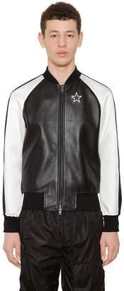 Givenchy Two Tone Nappa Leather Bomber Jacket