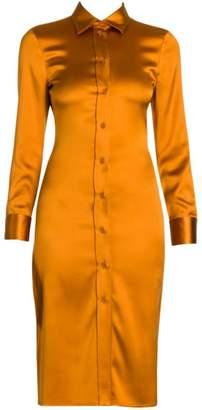 Bottega Veneta Stretch Satin Fitted Shirtdress