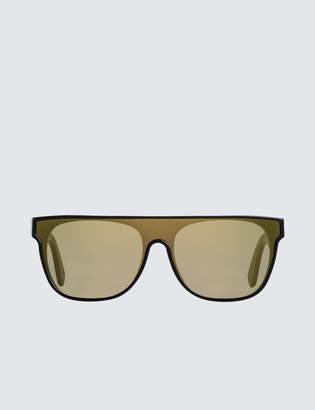 RetroSuperFuture Super By Flat Top Forma Gold Sunglasses