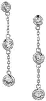 Morris & David Diamond and 14K White Gold Earrings