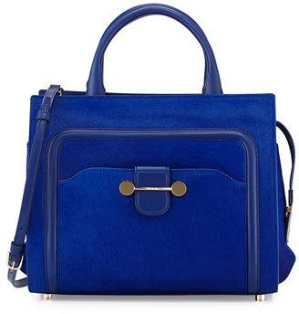 Jason Wu Daphne Calf-Hair Tote Bag, Blue $2,825 thestylecure.com