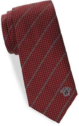 Versace Men's Silk Dotted Tie
