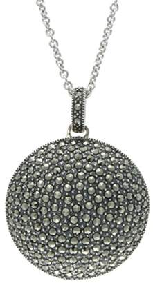 Suspicion Sterling Marcasite Domed Pendant withChain