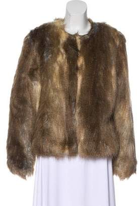 Ellen Tracy Faux Fur Collarless Jacket w/ Tags
