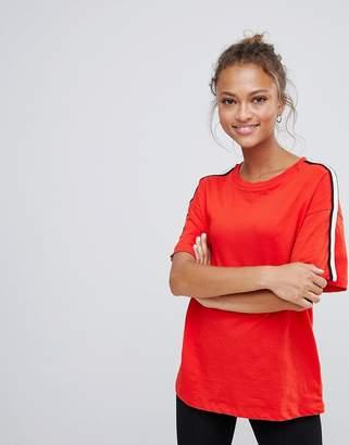 Bershka side stripe t shirt