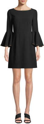 Trina Turk Bromely Trumpet-Sleeve Mini Dress