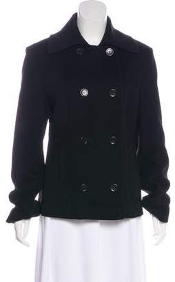 Fleurette Double-Breasted Short Coat
