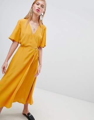 New Look Midi Wrap Dress