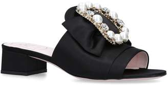 Roger Vivier Bow Pearl Mules