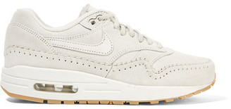 Nike - Nike Air Max 1 Sherpa Suede And Shearling Sneakers - White $130 thestylecure.com