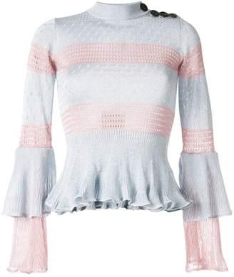 Self-Portrait lurex knit top