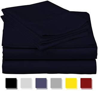 Thread Spread True Luxury 100% Egyptian Cotton - Genuine 1000 Thread Count 4 Piece Sheet Set- Color Navy