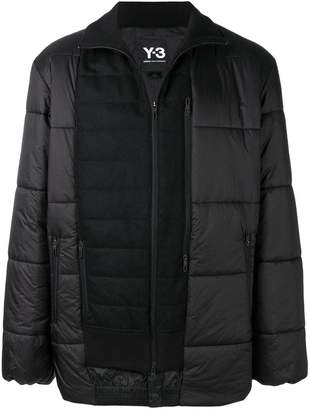 Y-3 patch panelled down jacket