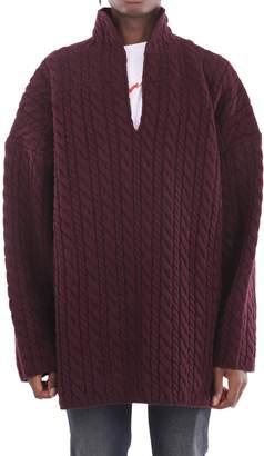 Balenciaga Purple V Neck Sweater