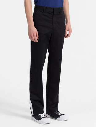 Calvin Klein straight tapered high rise striped pants