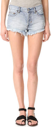 Free People Soft & Relaxed Cutoff Shorts $68 thestylecure.com