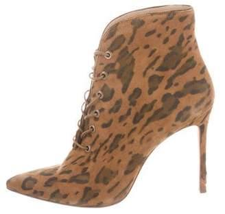 Pour La Victoire Animal Print Ankle Boots