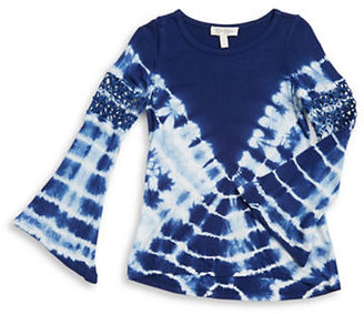 Jessica Simpson Girls 7-16 Crocheted Tie Dye Top $42.50 thestylecure.com