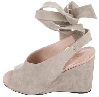 Derek Lam Suede Wrap-Around Wedges