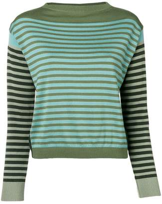 Alberta Ferretti striped long-sleeve sweater