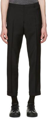 Jil Sander Black Slim Fit Suit Trousers $600 thestylecure.com