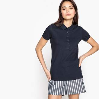 Benetton Plain Short-Sleeved Polo Shirt with Buttoned Collar