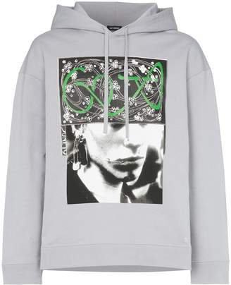 Raf Simons clubber graphic print hoodie