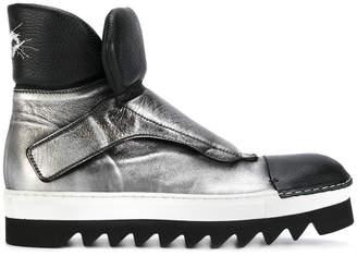 Rocco P. metallic monk strap boots