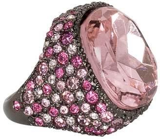 Kenneth Jay Lane Multi Pink Gem Ring