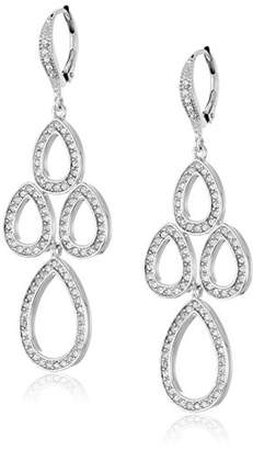 "Judith Jack ""Charming Chandelier"" Sterling Silver and Crystal Mini Chandelier Drop Earrings $125 thestylecure.com"