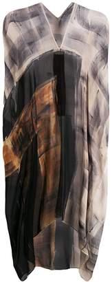 Masnada draped silk kaftan