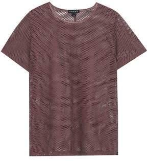 Koral Marsala Stretch-mesh T-shirt