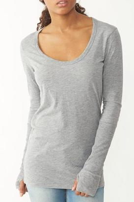 Alternative Apparel Rib Sleeve Shirt $28 thestylecure.com
