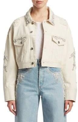 Jonathan Simkhai Embellished Denim Jacket